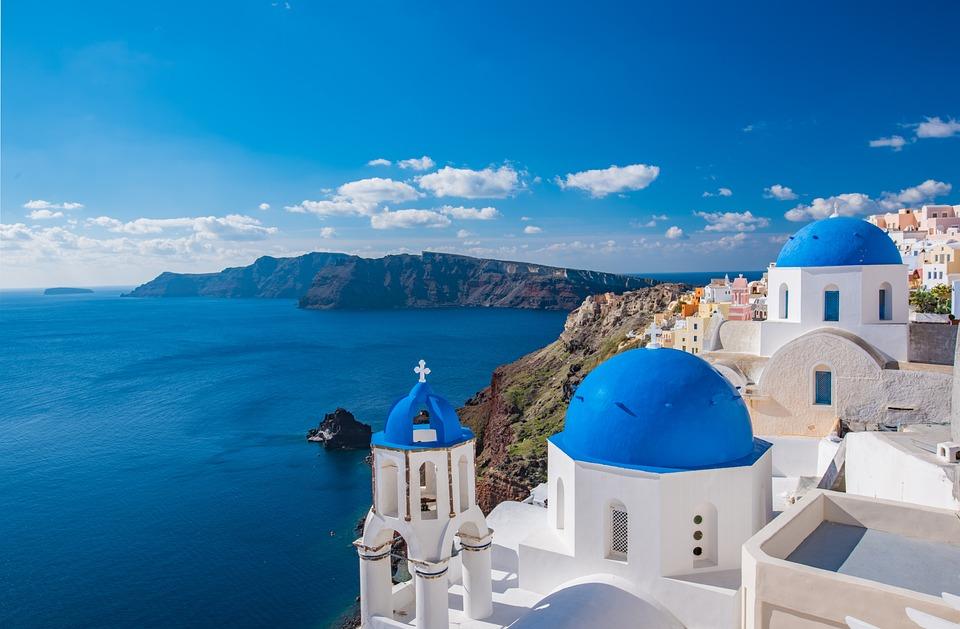 Kościół, Santorini, D, Grecja, Wyspa, Grecki