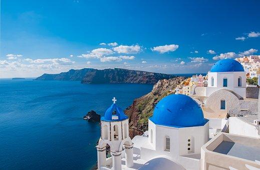 Iglesia Santorini D Grecia Isla Griega Arq