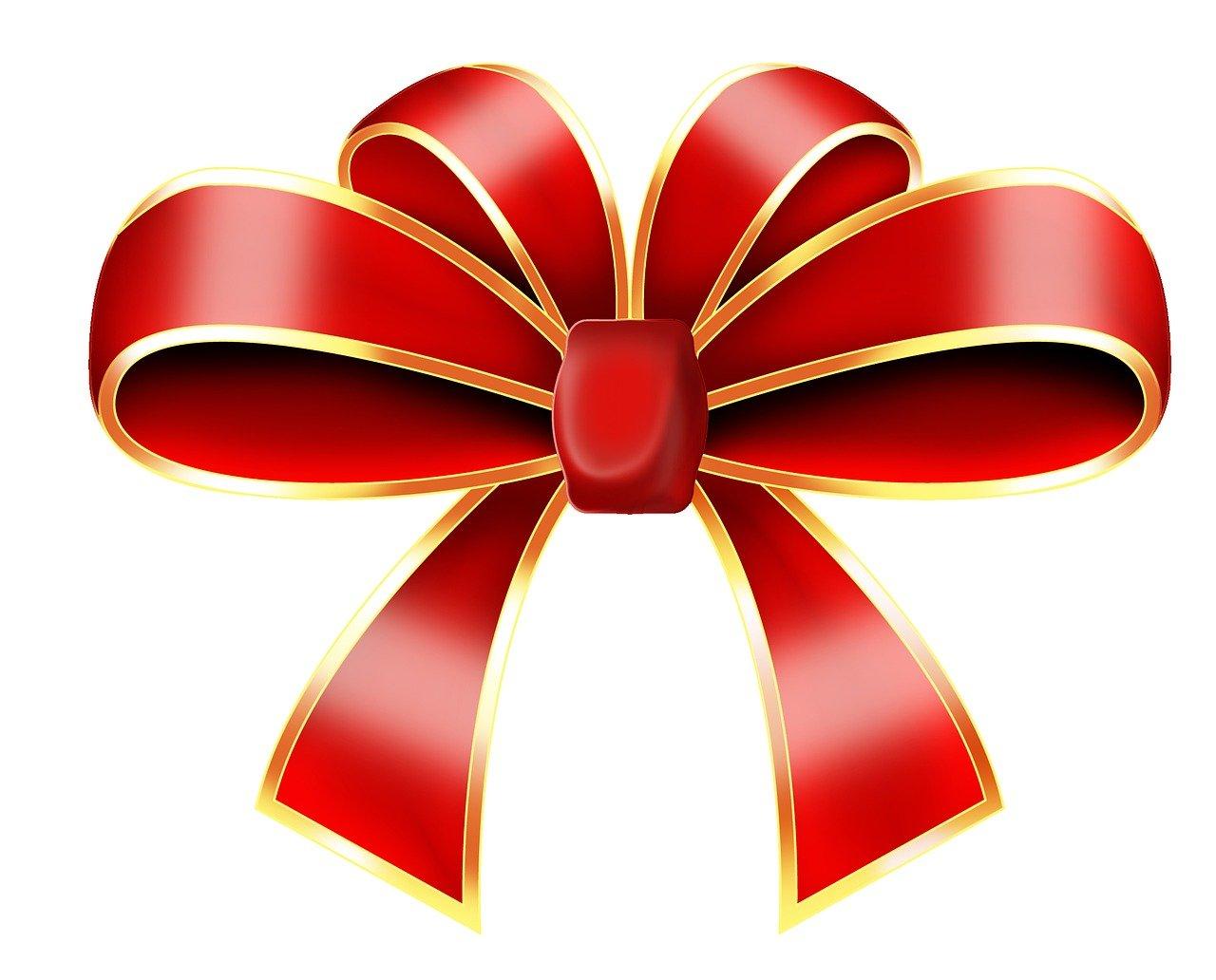 Бантики для подарков в векторе