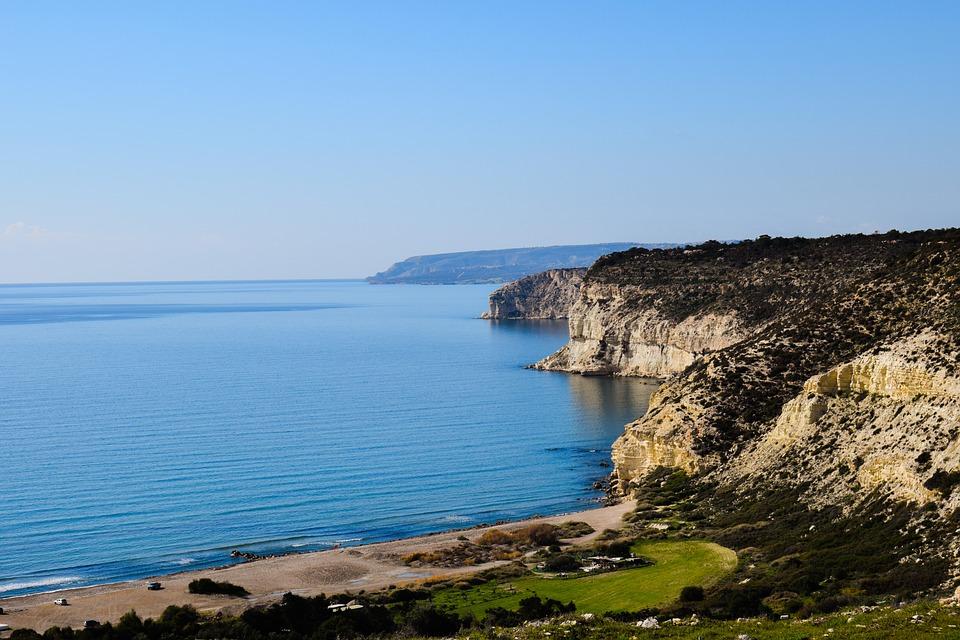 Beach, Sea, Landscape, Coast, Cliffs, Winter, Horizon