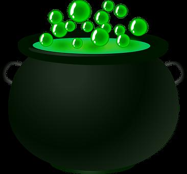 Blase, Kessel, Grün, Magie, Trank