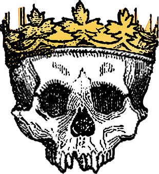 Crown Dead Death King Skeleton Skull