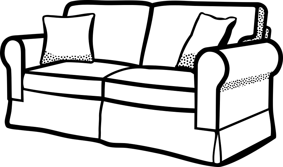 Couch furniture sofa free vector graphic on pixabay for Sofa zeichnung