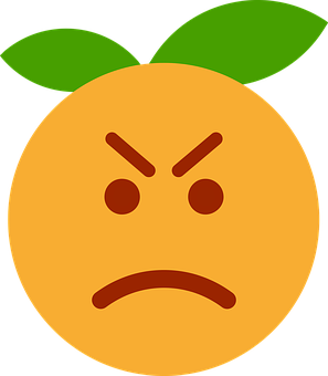 Clementine, Orange, Cartoon, Emotions