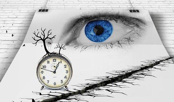 Œil, Time, Clock, Look, Poster, Iris
