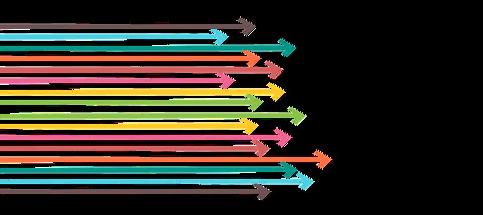 矢印, マーケティング, 戦略, スタートアップ, 社会的なメディア, オンライン, ビジネス