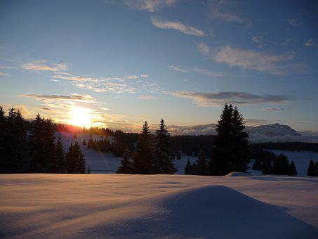 Luserna, Trentino, Tramonto, Montagne