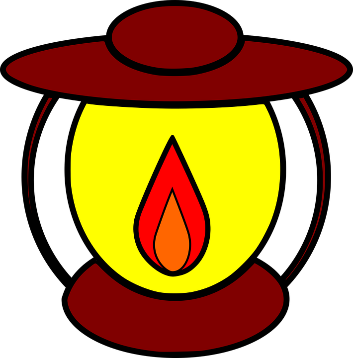 lamp clipart. oil lamp burn flame light clipart