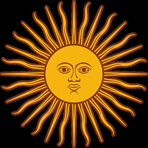 Blazing, Face, Shining, Sun, Symbol, Sun