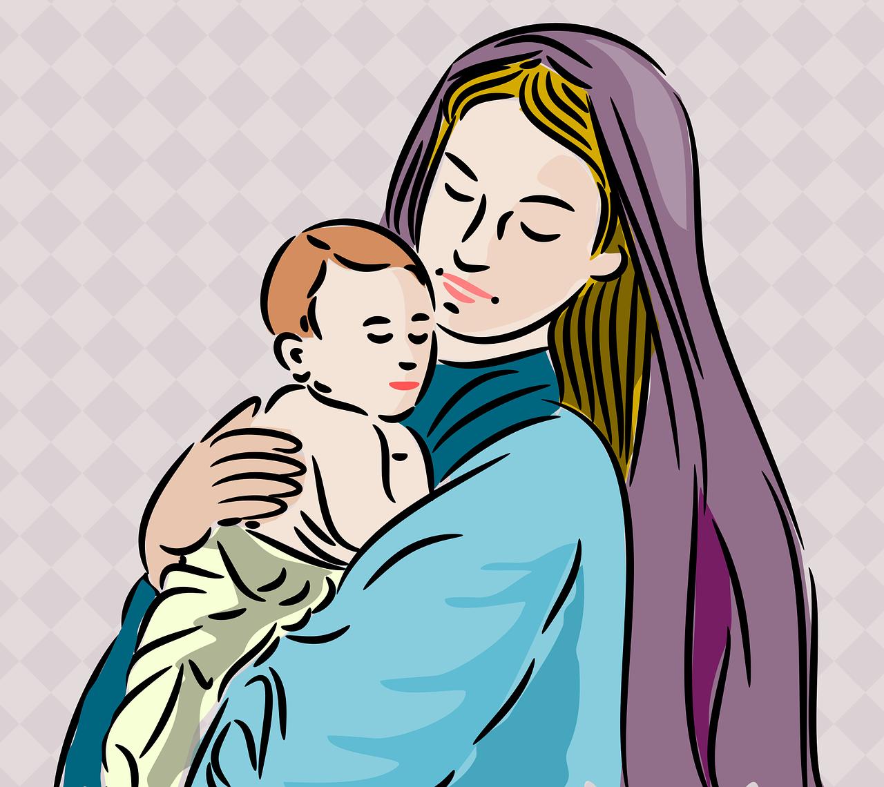 Открытки про маму и сына, мартом
