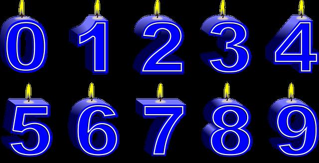 Nummers Kaarsen Verjaardag 183 Gratis Vectorafbeelding Op