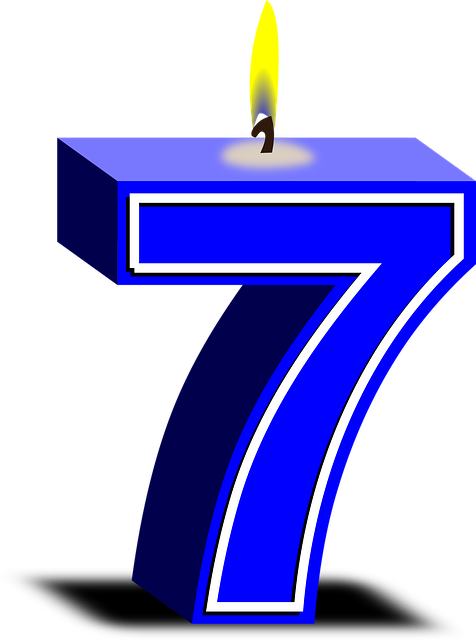 Numbers 7 Candles