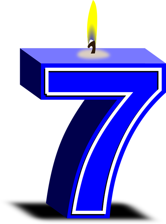 Numbers 7 Candles - Free vector graphic on Pixabay