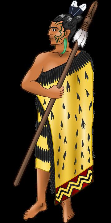 Maori, Soldat, Spyd, Kriger