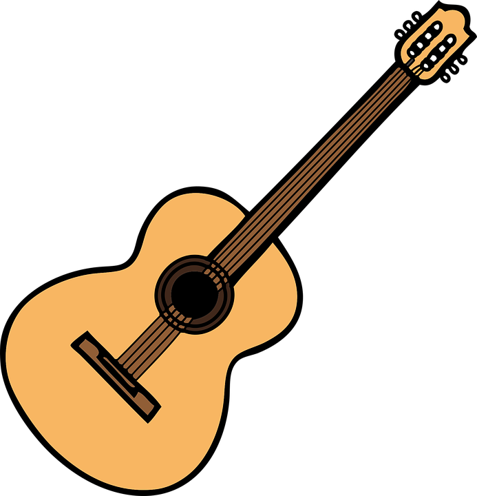 acoustic guitar music free vector graphic on pixabay rh pixabay com acoustic guitar clip art logos