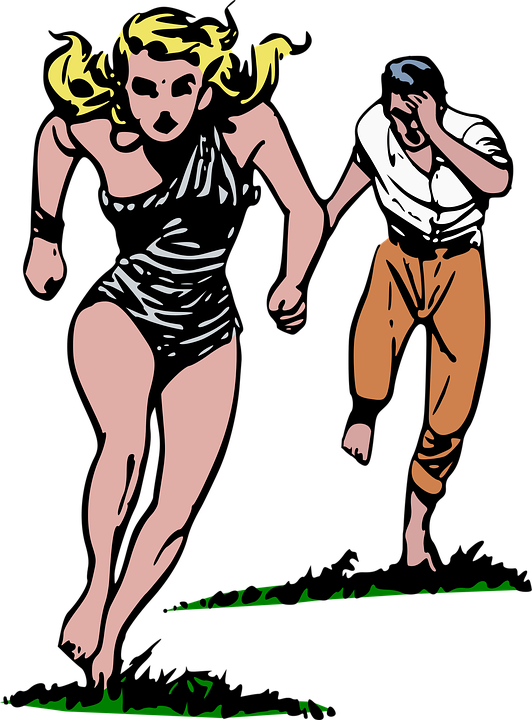 Cave Girl, Chase, Comics, Escape, Flee, Girl, Jungle