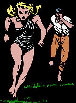 洞窟の女の子, チェイス, コミック, エスケープ, 逃げる, 女の子