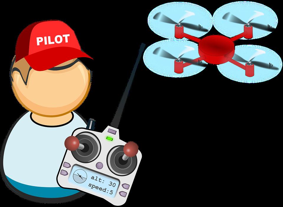 Aerial Air Drone Flight