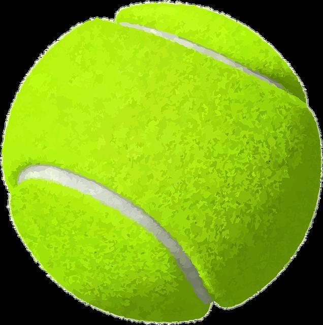Tennis Ball Yellow 183 Free Vector Graphic On Pixabay