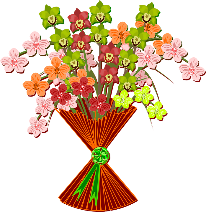 bouquet clip art flor free vector graphic on pixabay rh pixabay com  free clipart flowers bouquet
