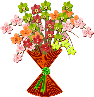 Bouquet Clip Art Flor Flora Flower Na