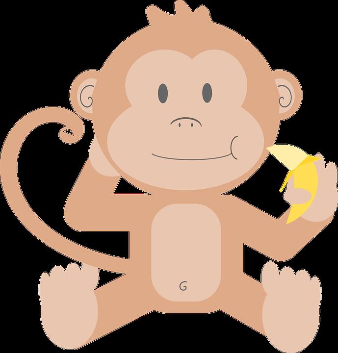Hewan Kartun Monyet Gambar Vektor Gratis Di Pixabay