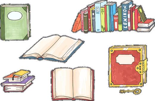 Bücher, Hochschule, Hand Gezeichnet