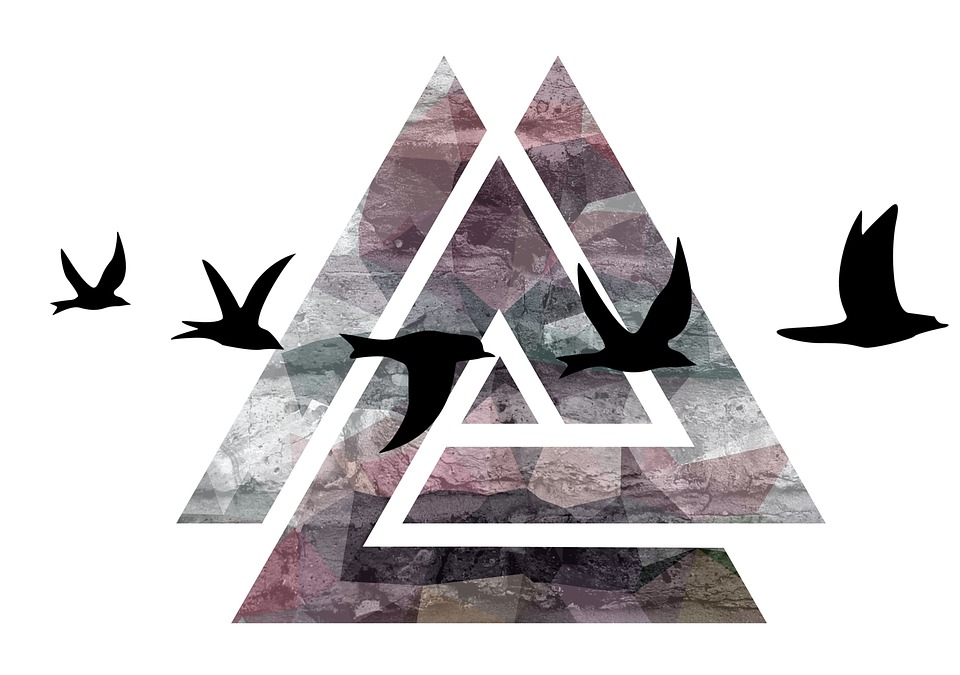 birds triangle design free image on pixabay