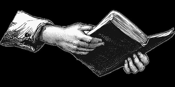 Bibel, Buch, Hände, Andere, Lesung