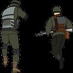 advance, army, battle