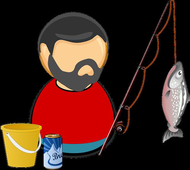 free vector graphic angler bait beer bucket catch