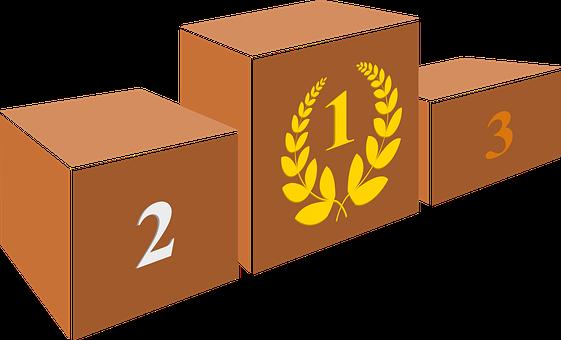 表彰台, 演壇, ビクター, 勝利, 受賞者