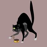cat, character, street