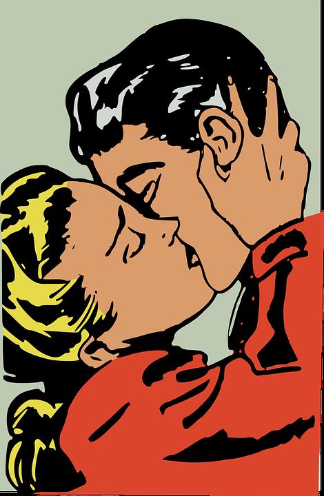 Beso, El Amor, Hombre, Retro, Romance, Romántico, Mujer