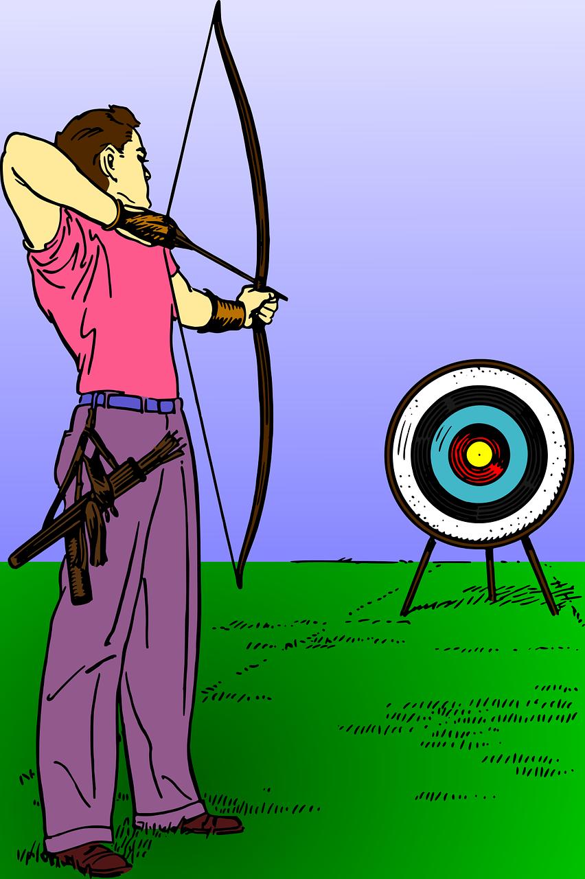 Картинки стрельба из лука для детей