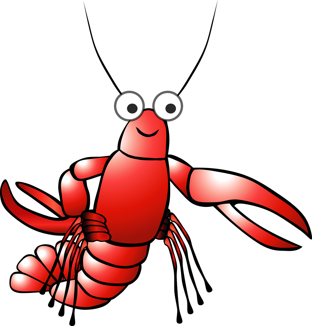 Kartun Udang Karang Lobster - Gambar Vektor Gratis Di Pixabay