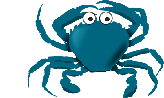 Blue Cartoon Crab Sea Stuff Crab Crab Crab