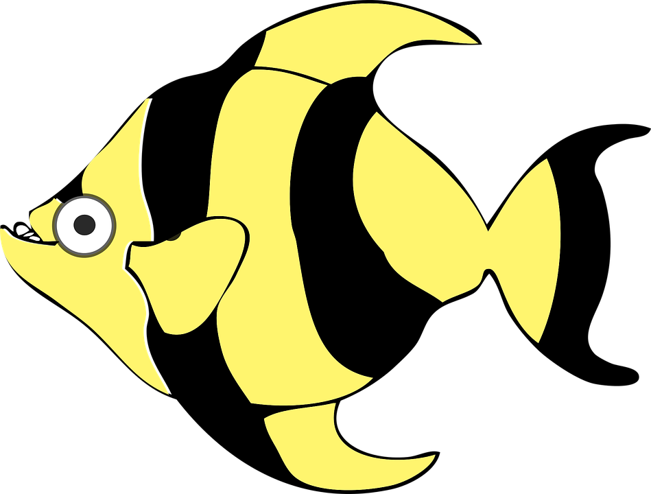 black cartoon fish free vector graphic on pixabay rh pixabay com vector fish scales vector fishing pole