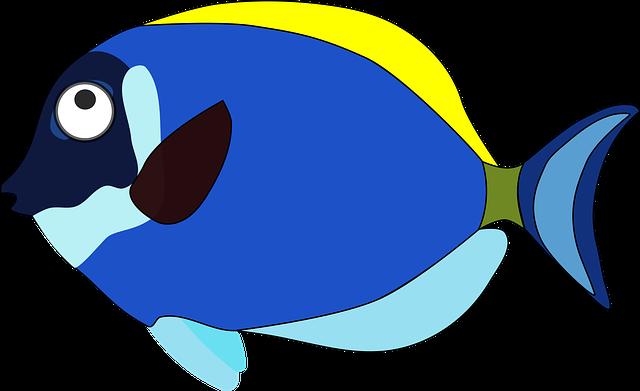 Fish Cartoons Blue Cartoon Fi...