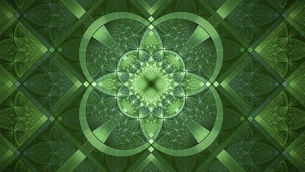 フラクタル, 緑, 聖パトリックの日, ファンタジー, アイルランド