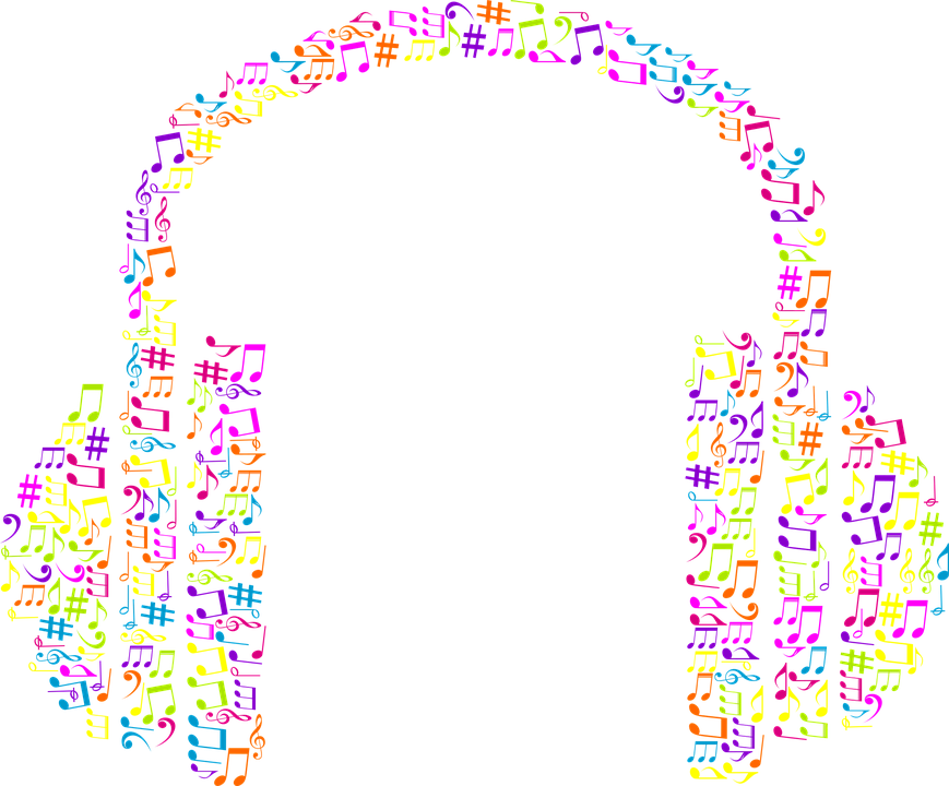 Headphones Music Notes: Abstract Art Audio · Free Vector Graphic On Pixabay
