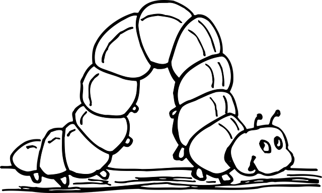 coloring pages of inchworm - photo#14