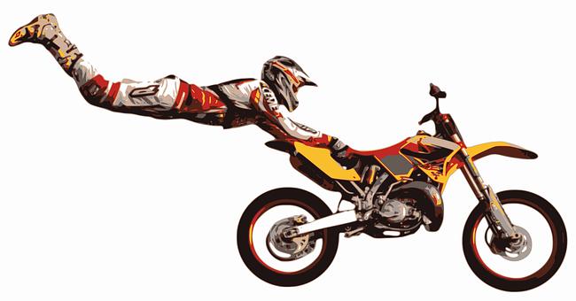 Stuntman, Motocross, Stunt, Jump