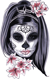 Maske, Karneval, Horror, Kostüm, Frau