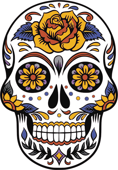 skull day of the dead death free vector graphic on pixabay rh pixabay com day of the dead skull vector free day of the dead vector download