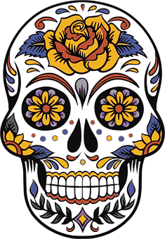 Skull, Day Of The Dead, Death, Mexican