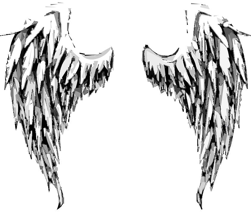 Anioł, Skrzydełka, Skrzydła Anioła, Niebo, Fantasy