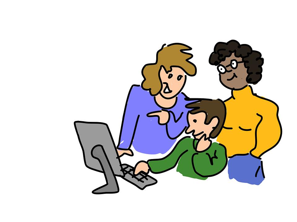 Class, Computer, Student, Teacher, Working