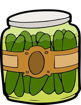 Deli Dill Fermented Food Gherkin Jar Pickl