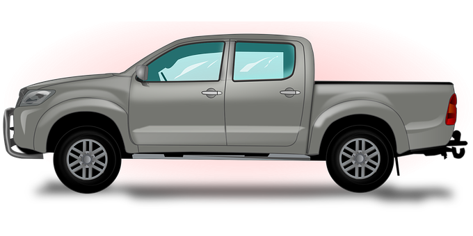 Pickup-Truck, Car, Automotive, Transport
